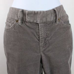 Liz Claiborne gray wide leg corduroy pants EUC